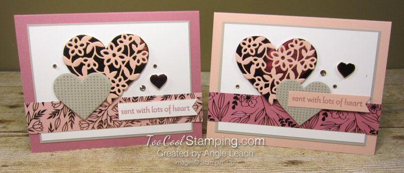 Sent with lots of heart - two cool