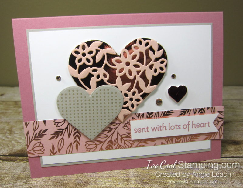 Sent with lots of heart - rose