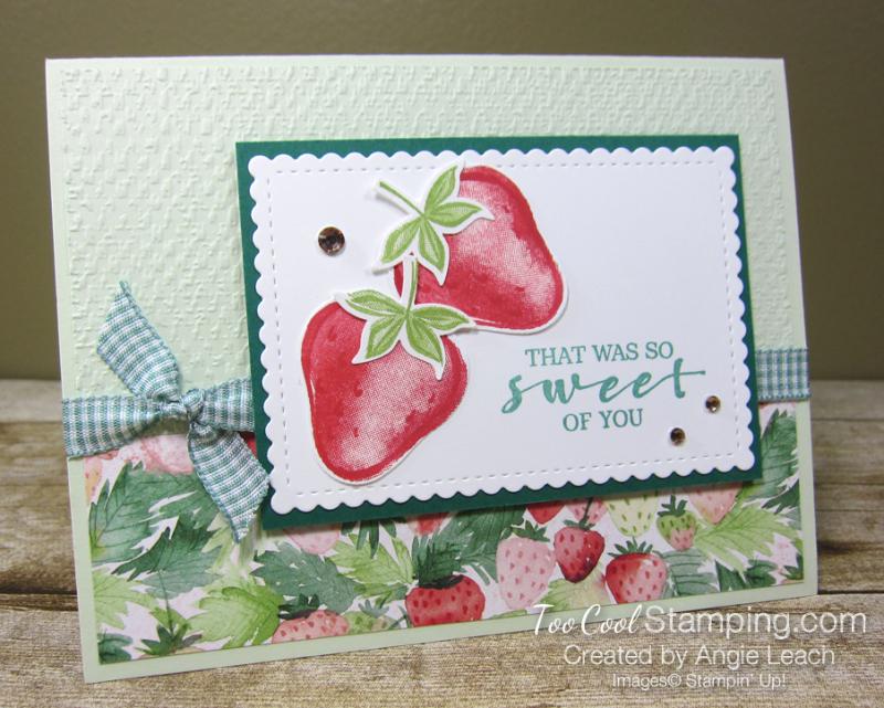 Sweet strawberry pair - sea foam 1