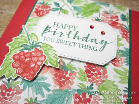 Berry blessings birthday center flap - poppy 3