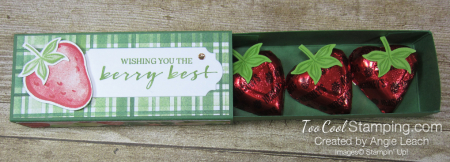 Chocolate hearts treat box - strawberry 3