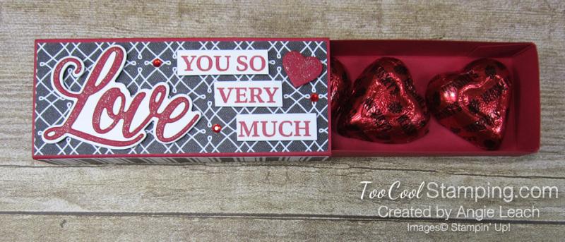 Chocolate hearts treat box - true love 3