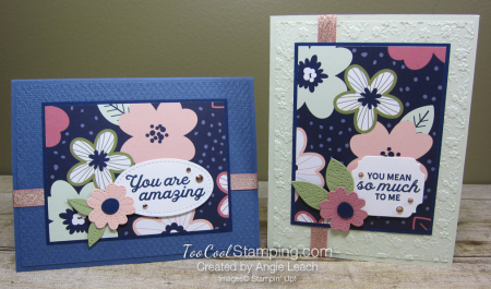 Paper blooms navy background - two cool