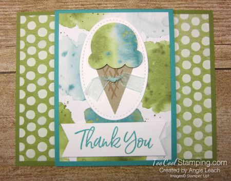 Ice cream corner center flap - olive 1