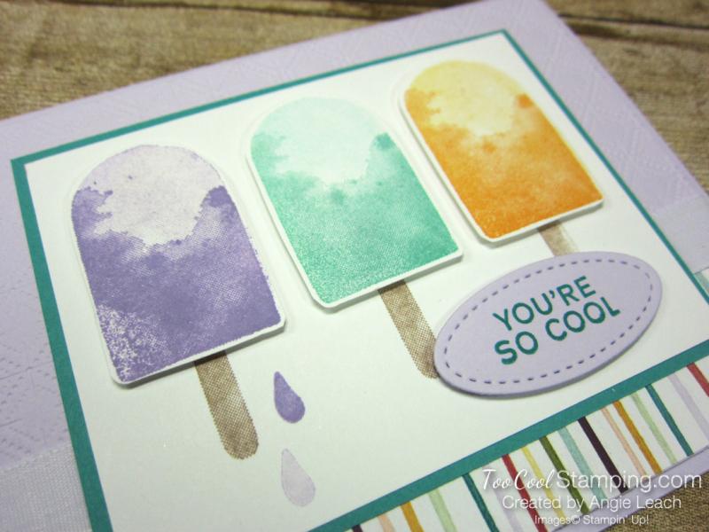 Ice cream corner popsicle trio - posy 2