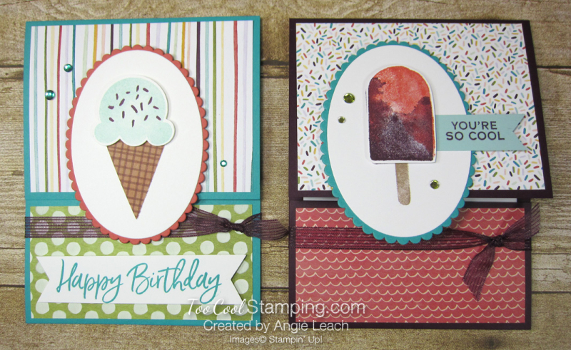 Ice cream corner gift card holder - two cool