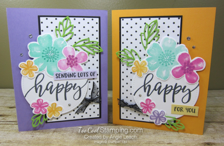 Pretty Perennials Polka Dot Collage - two cool