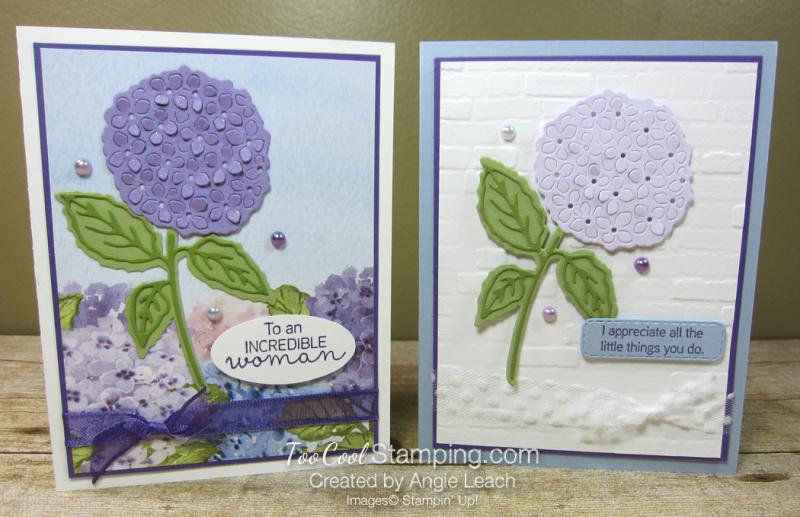 Hydrangea Hill die-cut flower - two cool