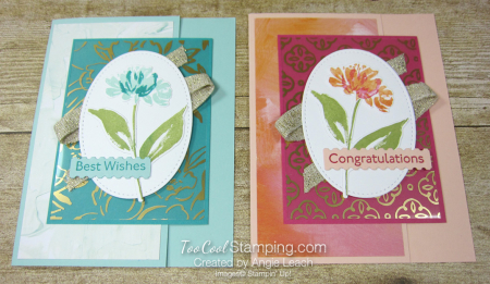 Golden garden acetate cards - two cool