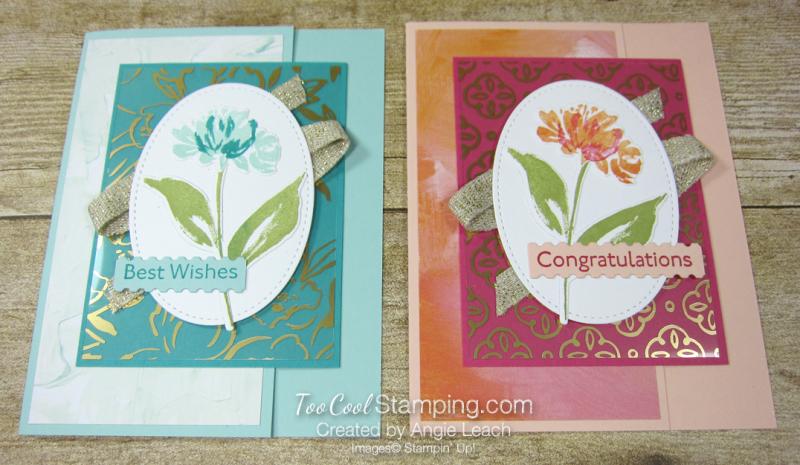 Golden garden acetate cards - two cool