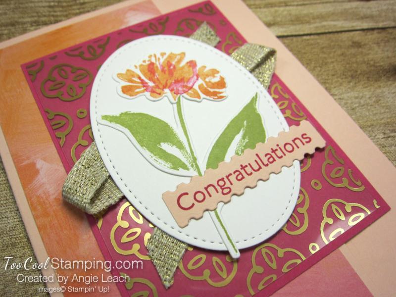 Golden garden acetate cards - petal 2