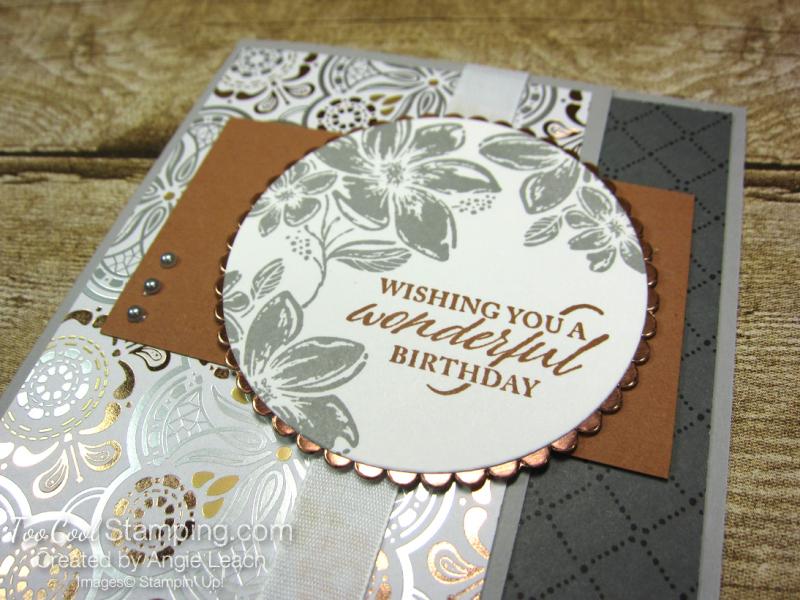 Simply elegant wonderful birthday - copper 2