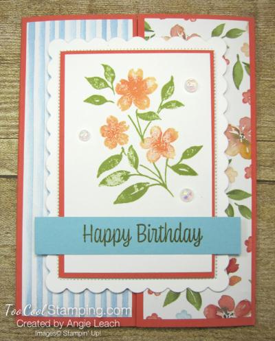 Sweet As A Peach Gate-Fold - flowers 1