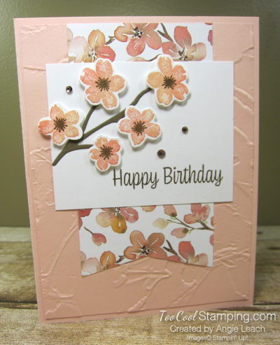 Sweet As A Peach Banner Cards - flowers 1