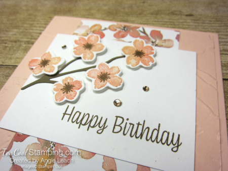 Sweet As A Peach Banner Cards - flowers 2