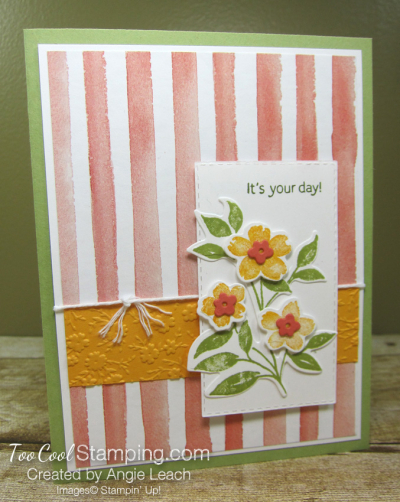 Sweet As A Peach Popped Up Trio - flowers