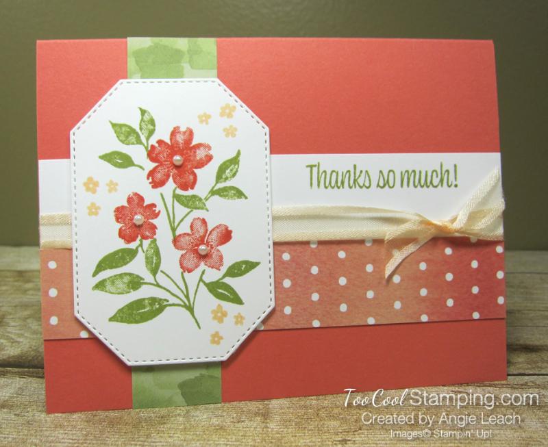 Sweet As A Peach simple stamped trio - flowers 1