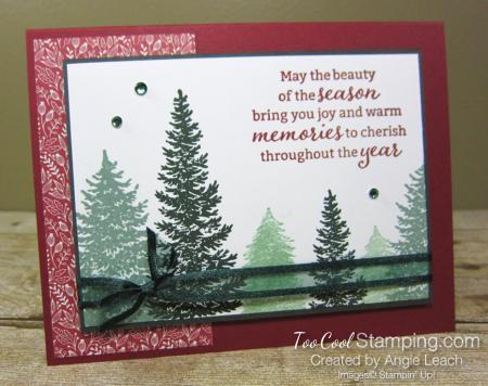 Evergreen elegance stamped forest - cherry