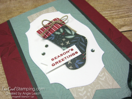 Tidings & trimmings dsp stocking - cherry 2