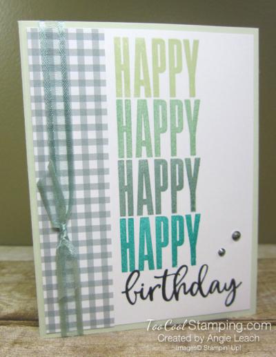 Biggest Wish Hinge Step Birthday - greens