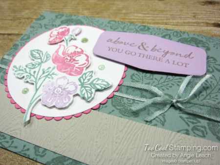 Shaded Summer multicolor stamping - succulent 2