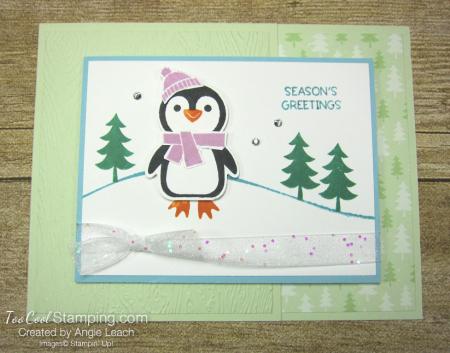 Penguin Place snow scene cards - sea foam 1