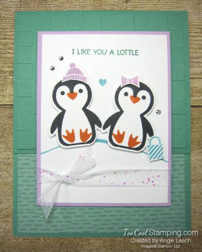 Penguin Place snow scene cards - jade 1
