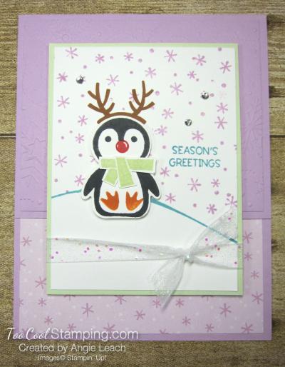Penguin Place snow scene cards - freesia 1