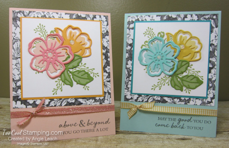 Shaded Summer die-cut flowers - two cool
