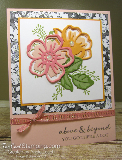 Shaded Summer die-cut flowers - petal pinks 1
