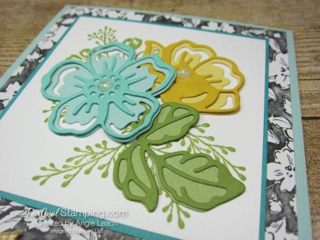 Shaded Summer die-cut flowers - pool party 3