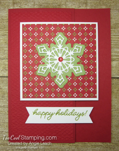 Frosted gingerbread snowflake happy holidays - red 1