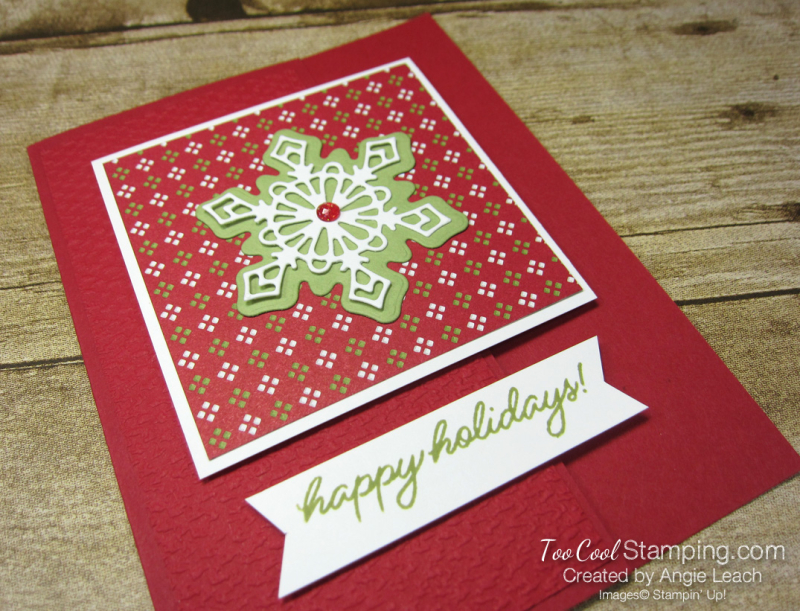 Frosted gingerbread snowflake happy holidays - red 2