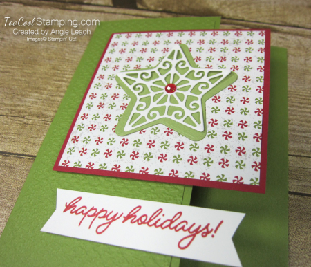 Frosted gingerbread star happy holidays - olive 2