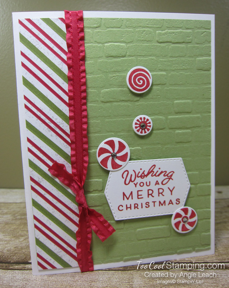 Frosted gingerbread peppermint card - pear3