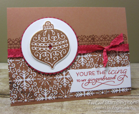 Gingerbread icing ornament 1