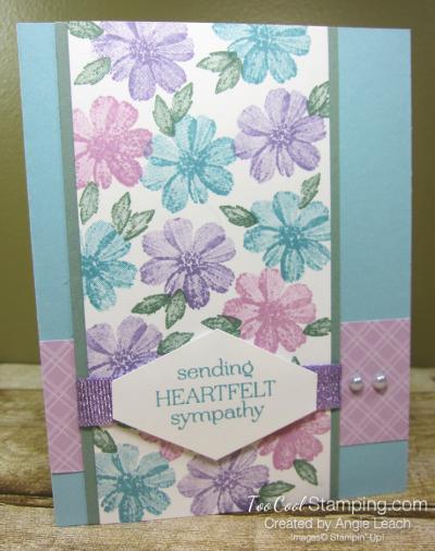 Delicate Dahlias heartfelt sympathy - blue 1