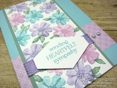 Delicate Dahlias heartfelt sympathy - blue 2