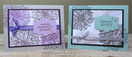 Delicate Dahlias double-time stamping - two cool