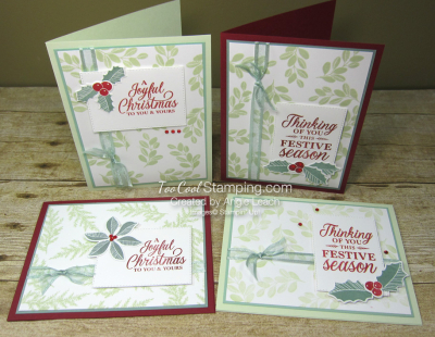 Merriest Moments stamp background - four cool