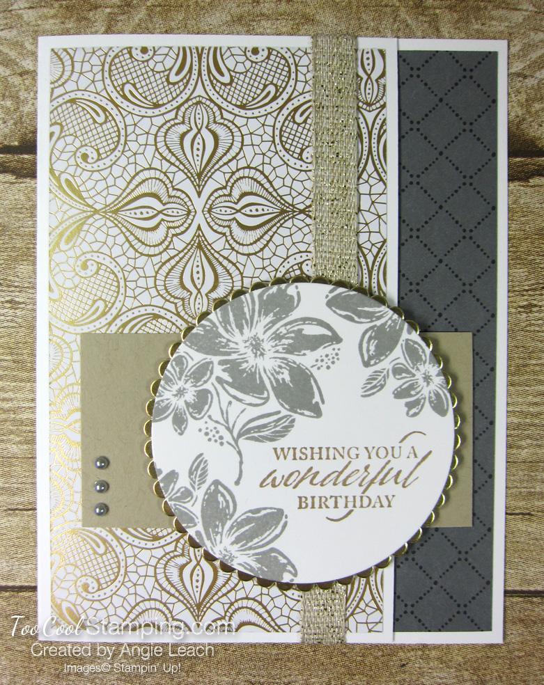 Simply elegant wonderful birthday - gold 1