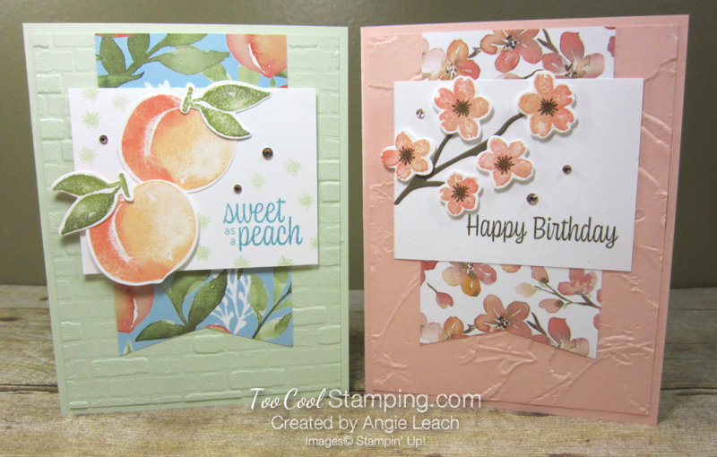 Sweet As A Peach Banner Cards - two cool