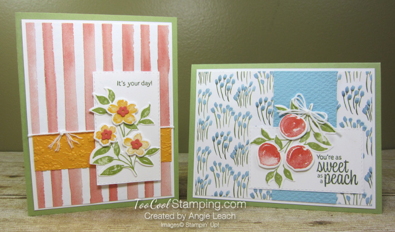 Sweet As A Peach popped up trio Cards - two cool