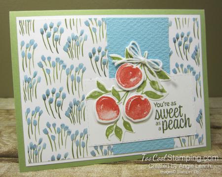 Sweet As A Peach Popped Up Trio - peaches