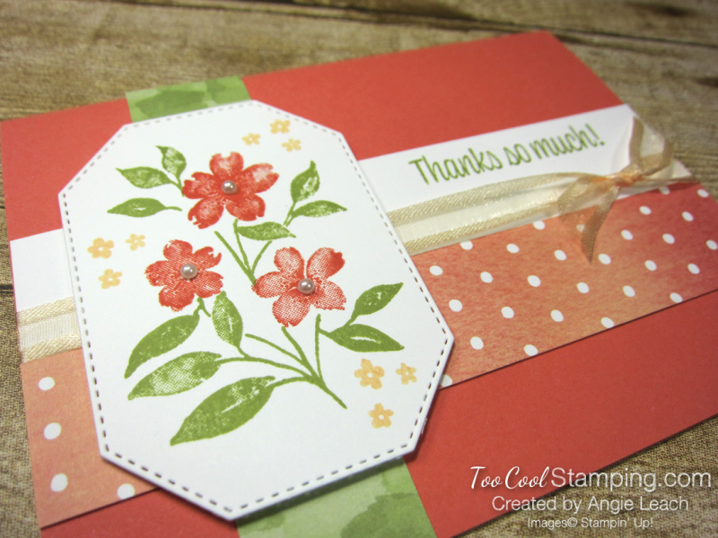 Sweet As A Peach simple stamped trio - flowers 2