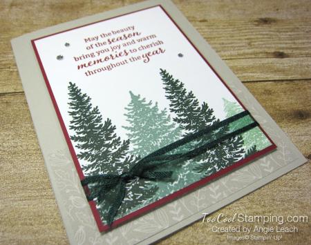 Evergreen elegance stamped forest - sahara 2