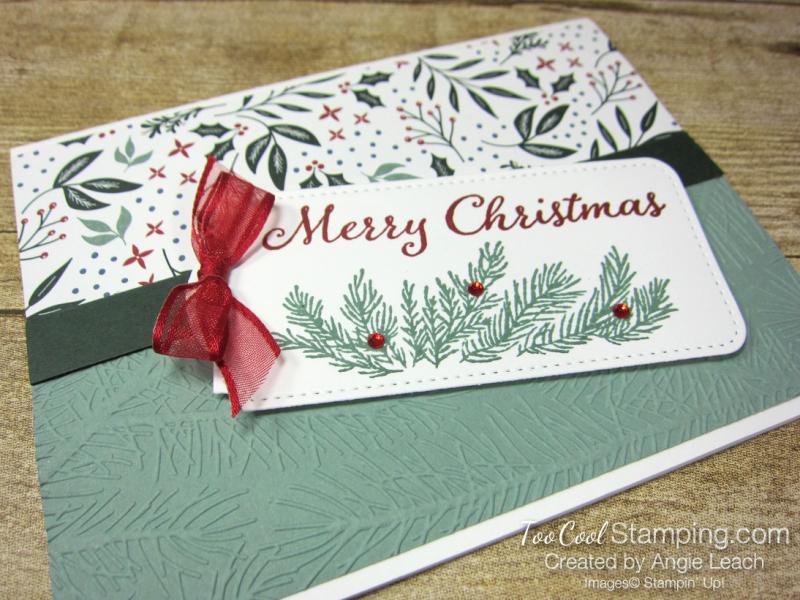 Evergreen elegance merry tag - white 2