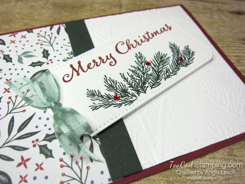 Evergreen elegance merry tag - cherry 2