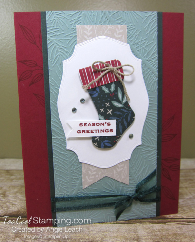Tidings & trimmings dsp stocking - cherry