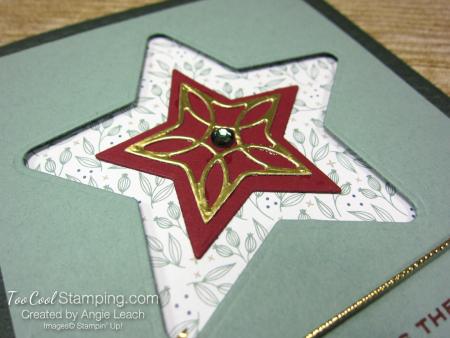 Tidings & trimmings recessed star - evergreen 3